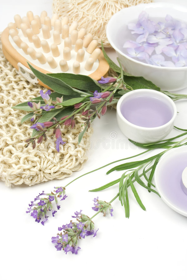 Download Lavender, Sage And Spa Massage Set Stock Photo - Image of lavender, pink: 5743920