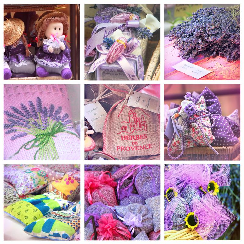 Lavender for sell on provencal market royalty free stock photos