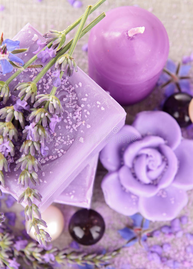 Download Lavender soap stock photo. Image of life, herbal, clean - 25399636