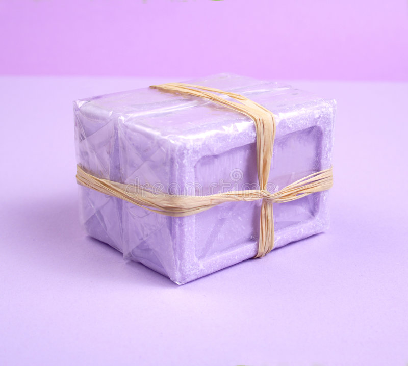 Lavender soap bar royalty free stock image