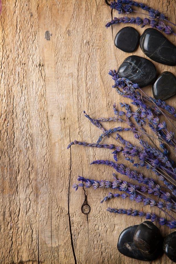 lavender spa πέτρες στοκ φωτογραφία