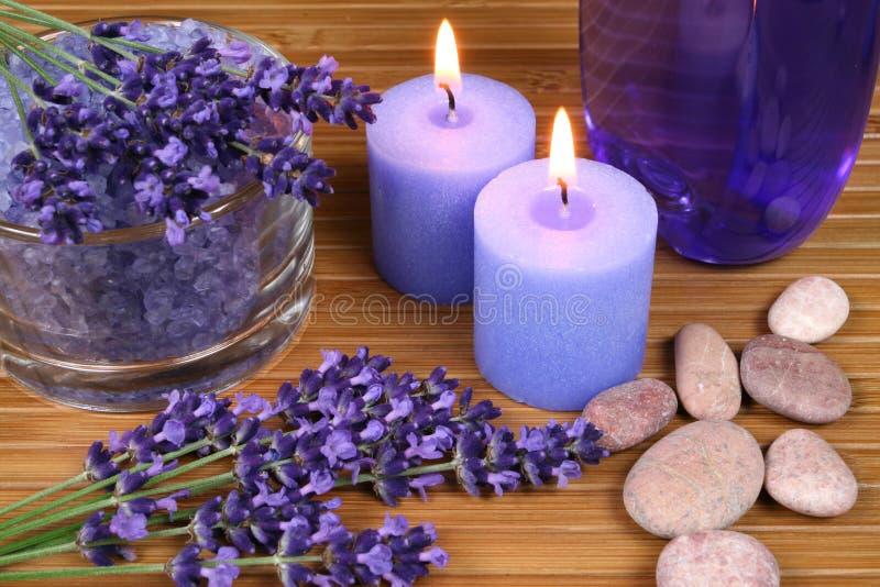 Download Lavender spa stock photo. Image of pebble, salt, resort - 24699672