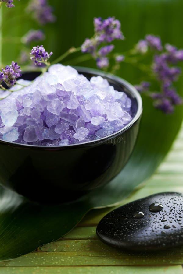 Lavender Spa Salt stock images