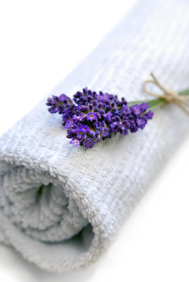 Lavender towel royalty free stock images