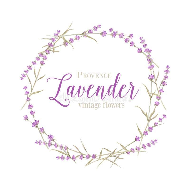 Lavender wreath vector illustration
