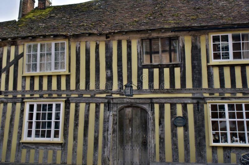 Lavenham UK.Old Houses royalty free stock photography