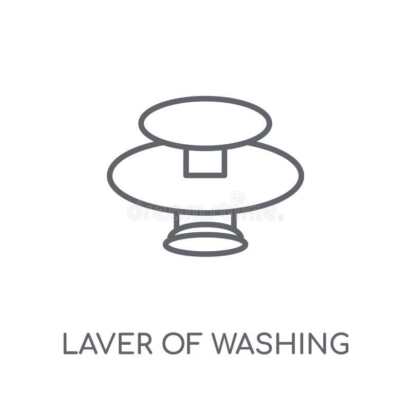 Laver av tvätt av den linjära symbolen Modern översiktsLaver av den tvättande loen royaltyfri illustrationer