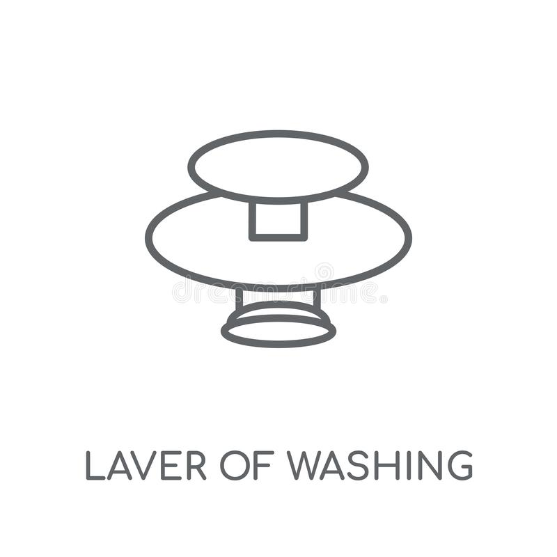 Laver of Washing linear icon. Modern outline Laver of Washing lo royalty free illustration