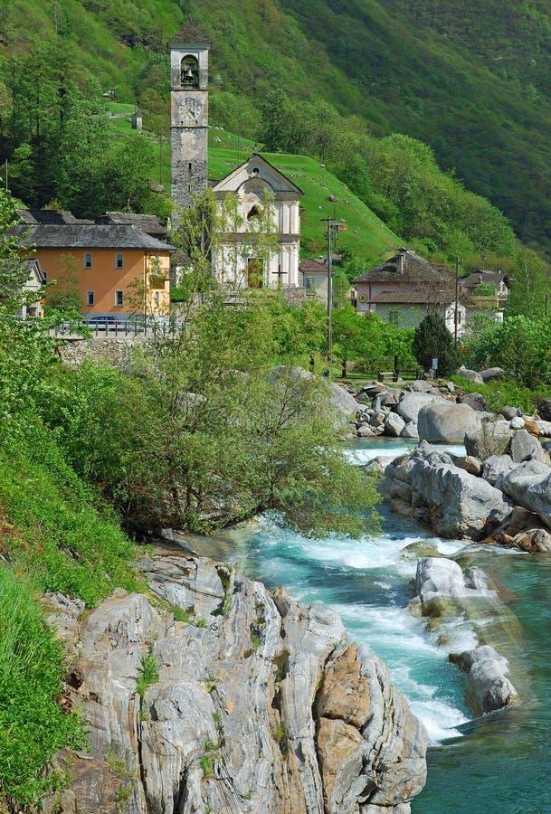 Lavertezzo, Ticino stock foto's