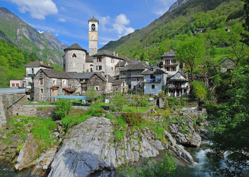 Lavertezzo, Verzasca Vallei, Ticino royalty-vrije stock afbeelding