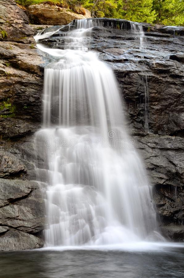 Laverty nedgångar, Fundy nationalpark, New Brunswick, Kanada royaltyfri foto