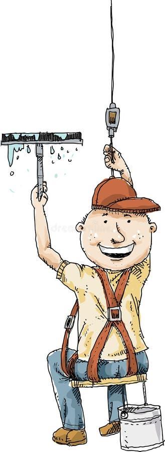 Laveur de vitres suspendu illustration stock
