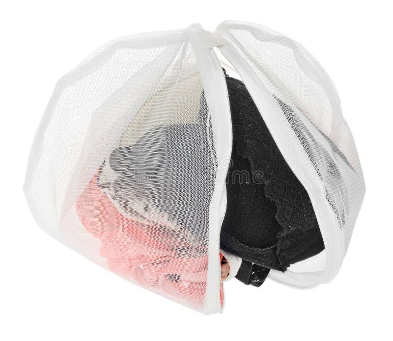 Lavez le sac pour les vêtements sensibles, chaussures, sous-vêtements, soutien-gorge Une blanchisserie images stock