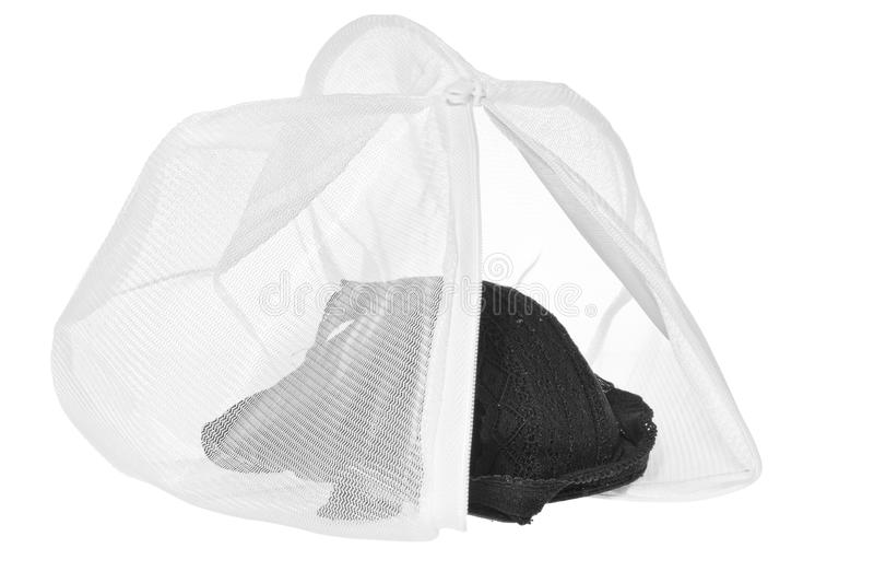 Lavez le sac pour les vêtements sensibles, chaussures, sous-vêtements, soutien-gorge Une blanchisserie photos libres de droits