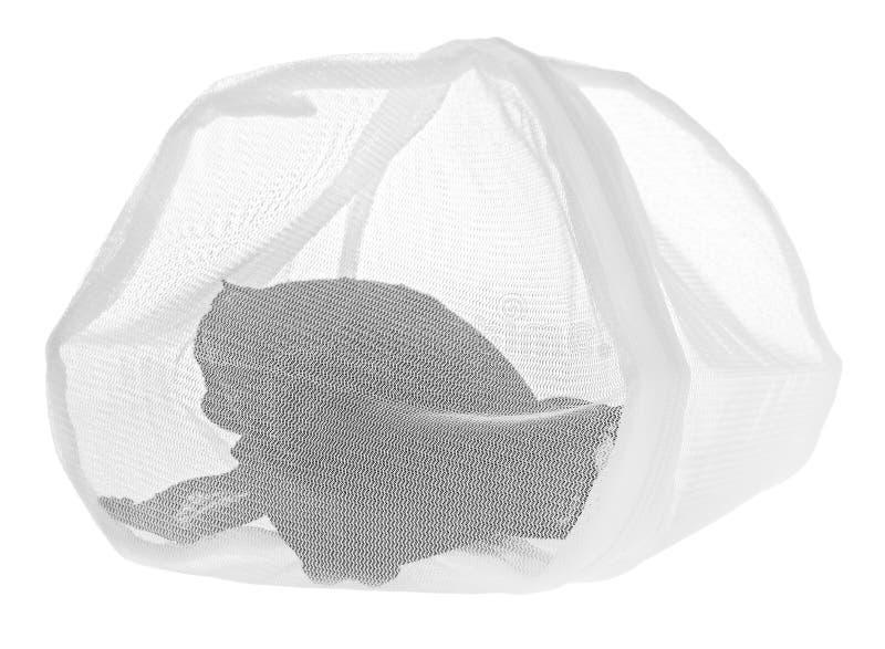 Lavez le sac pour les vêtements sensibles, chaussures, sous-vêtements, soutien-gorge Une blanchisserie photographie stock
