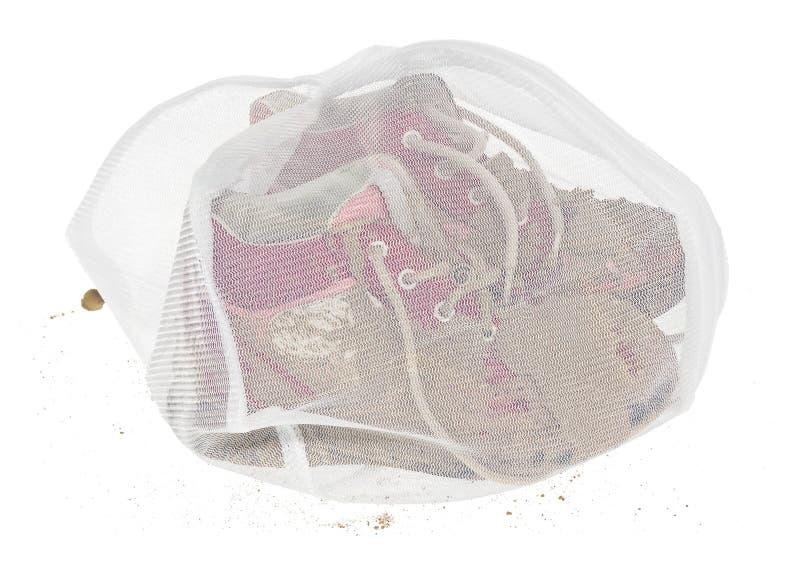 Lavez le sac pour les vêtements sensibles, chaussures, sous-vêtements, soutien-gorge Une blanchisserie photos stock