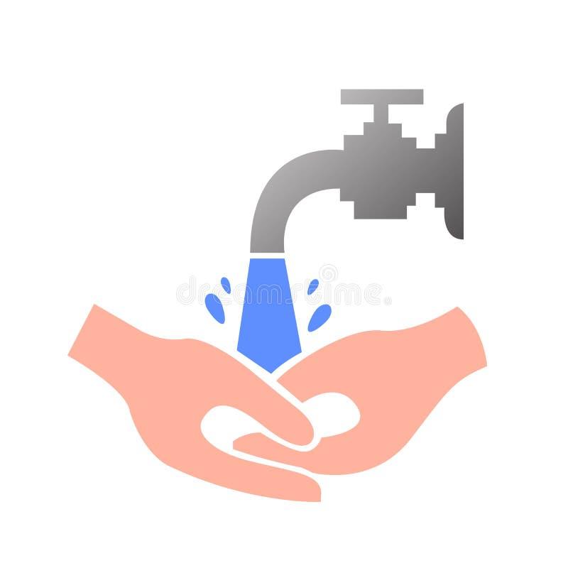 Lavi il vostro consiglio delle mani illustrazione di stock