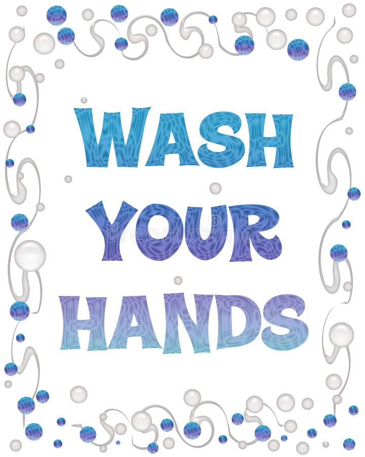 Lavi le vostre bolle delle mani royalty illustrazione gratis