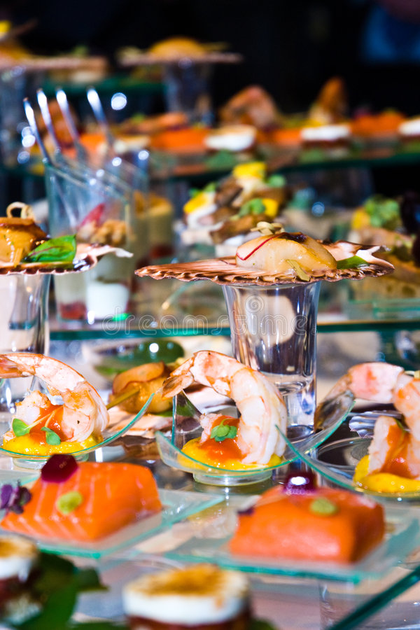 Lavish Food Display stock photos