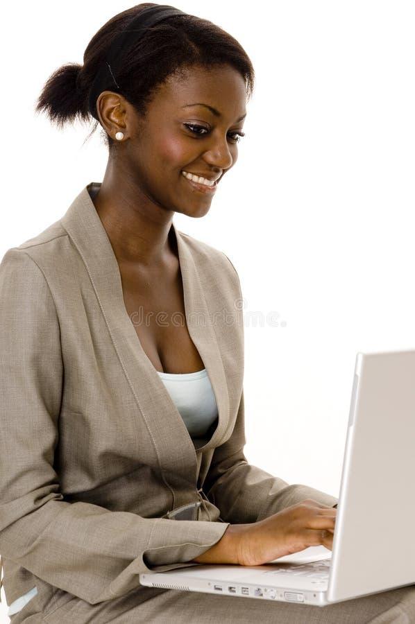 Lavorando al computer portatile
