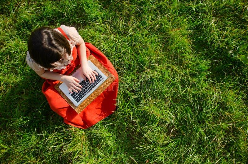 Download Lavorando online in natura immagine stock. Immagine di sorriso - 30826563