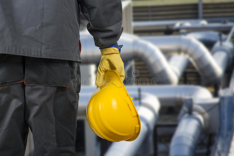 Lavoratore con il casco immagini stock libere da diritti