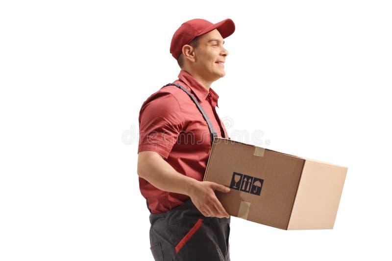 Lavoratore con pacchetto fotografia stock