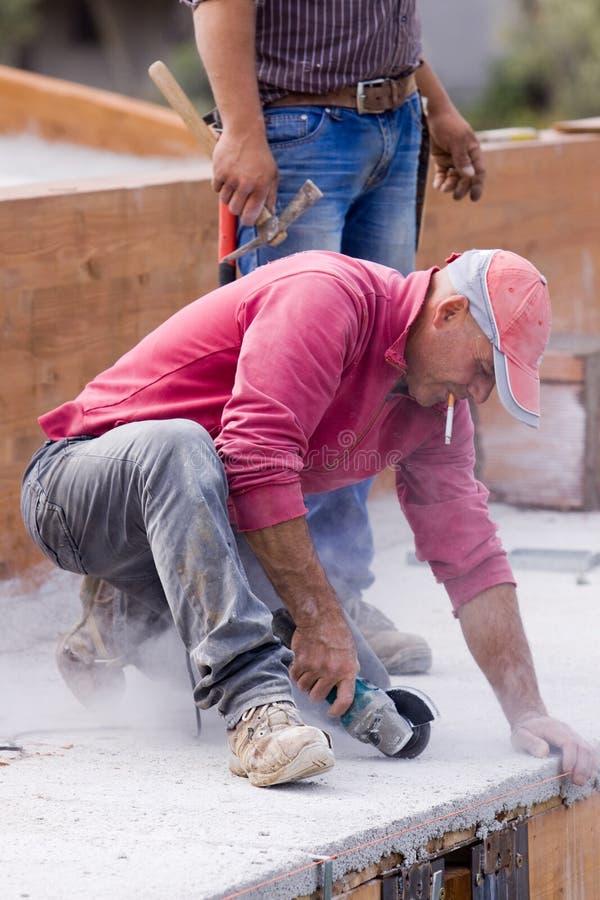 Lavoratore di Construcion fotografia stock