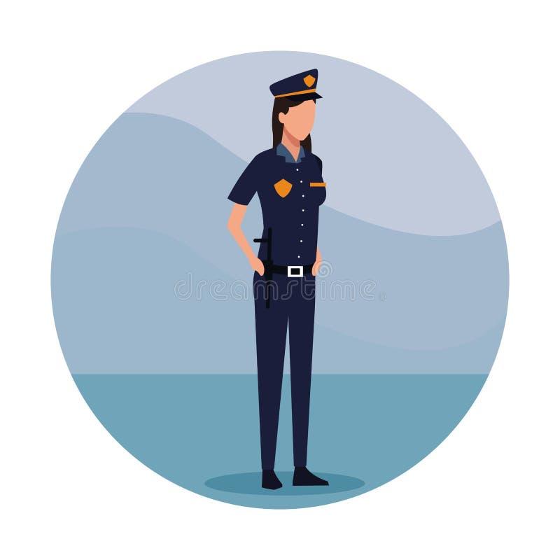 Lavoratore di Job dell'ufficiale di polizia della donna royalty illustrazione gratis