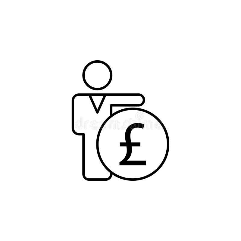 Lavoratore, essere umano, icona della libbra Elemento dell'illustrazione di finanza I segni e l'icona di simboli possono essere u illustrazione vettoriale