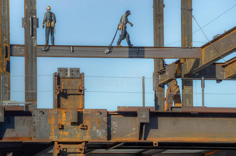 Lavoratori del ferro fotografia stock libera da diritti