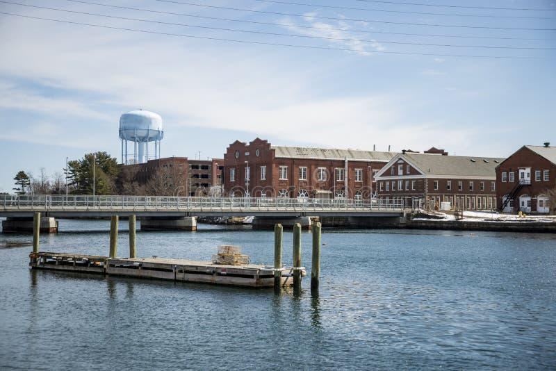 Lavoratori di porto della marina statunitense a Portsmouth NH fotografia stock libera da diritti