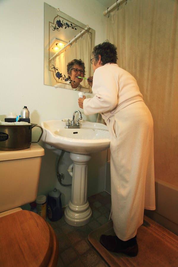 Lavoretti del bagno immagini stock