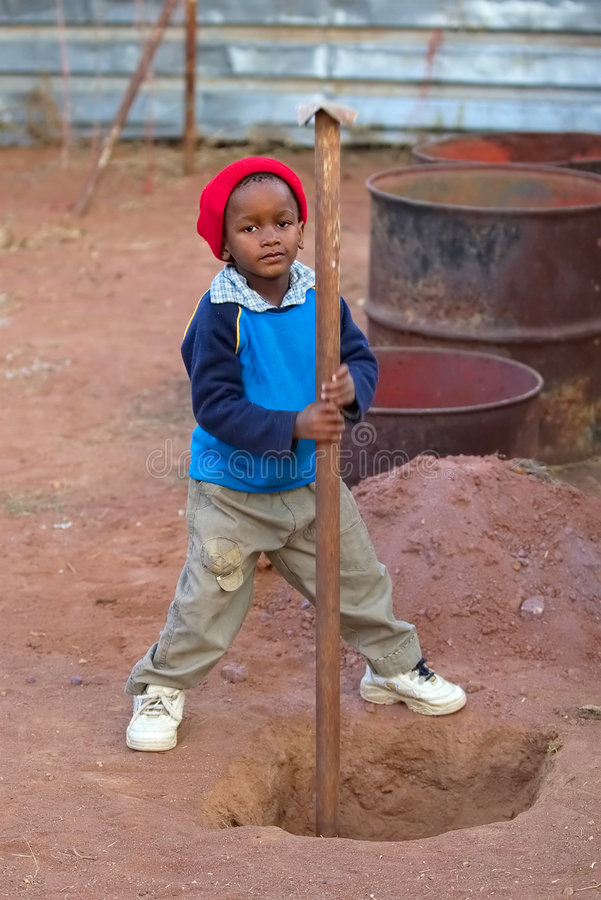 Lavori infantili fotografia stock