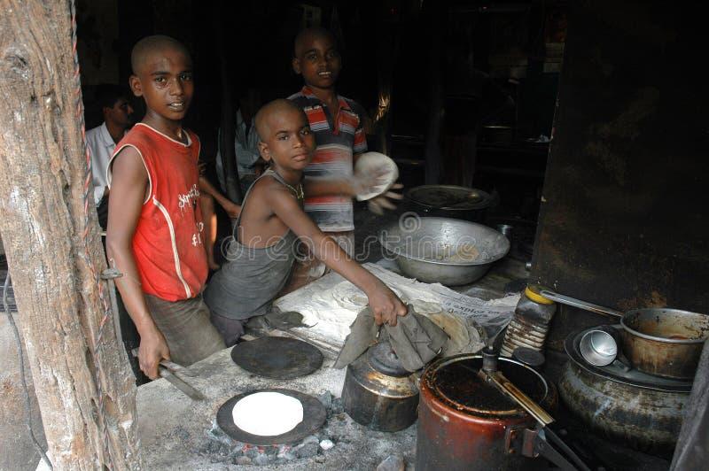 Lavori infantili in India. immagine stock libera da diritti