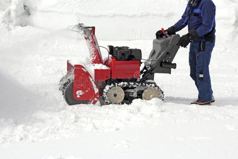 Rimozione di neve immagini stock libere da diritti