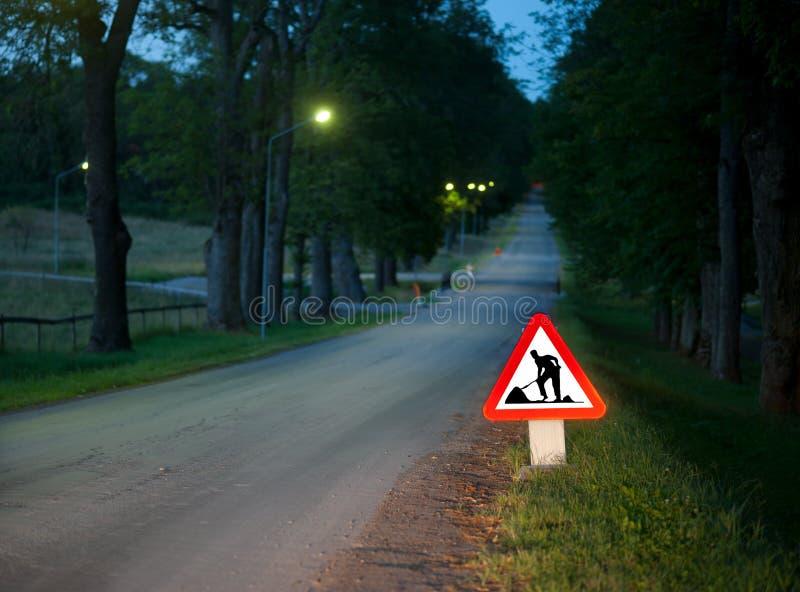 Lavori stradali fotografie stock libere da diritti