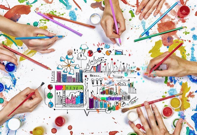 Lavoro creativo del gruppo immagini stock