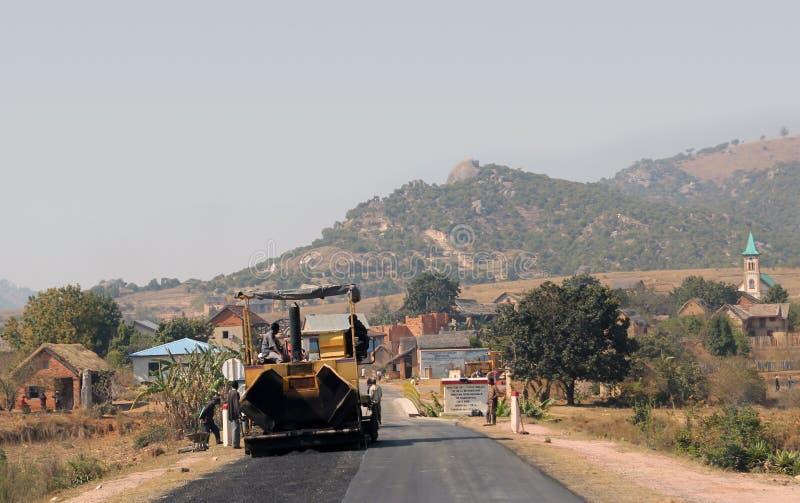 Lavoro d'asfaltatura Africa fotografia stock