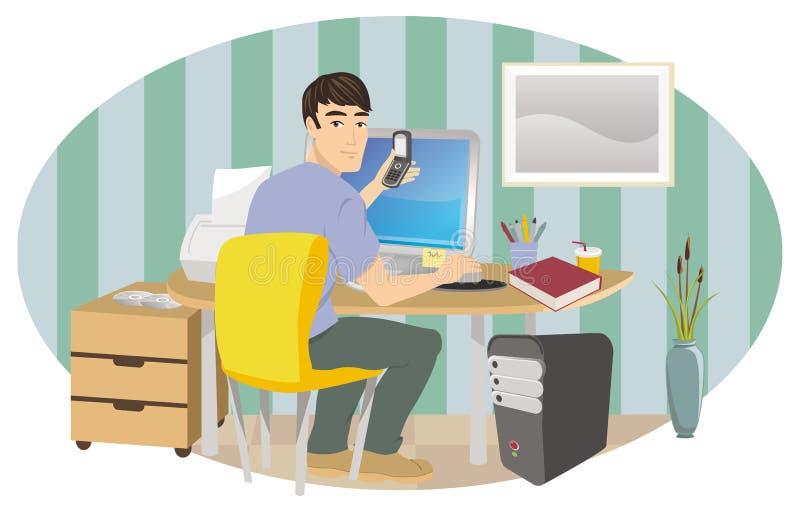 Lavoro dalla casa illustrazione vettoriale