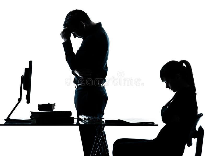 Lavoro dell'adolescente della ragazza dell'allievo dell'insegnante del padre dell'uomo fotografie stock libere da diritti