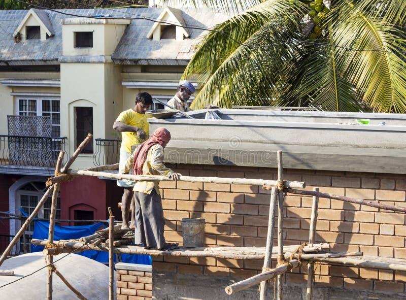 Lavoro di costruzione India fotografie stock