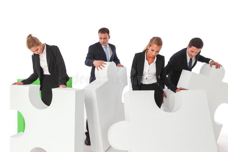 Lavoro di squadra di affari e soluzione di problema fotografia stock