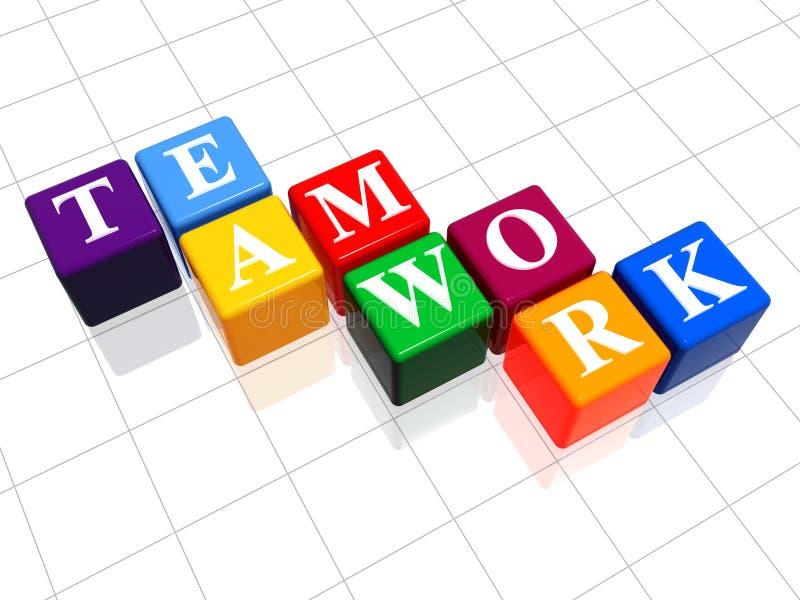 Lavoro di squadra a colori 2 royalty illustrazione gratis