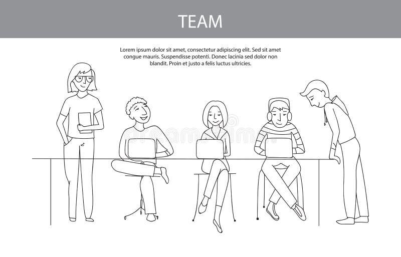 Lavoro di squadra, concetto di vettore del gruppo royalty illustrazione gratis