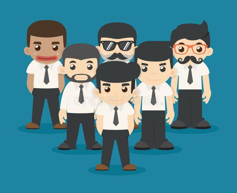 Lavoro di squadra dell'uomo d'affari illustrazione vettoriale