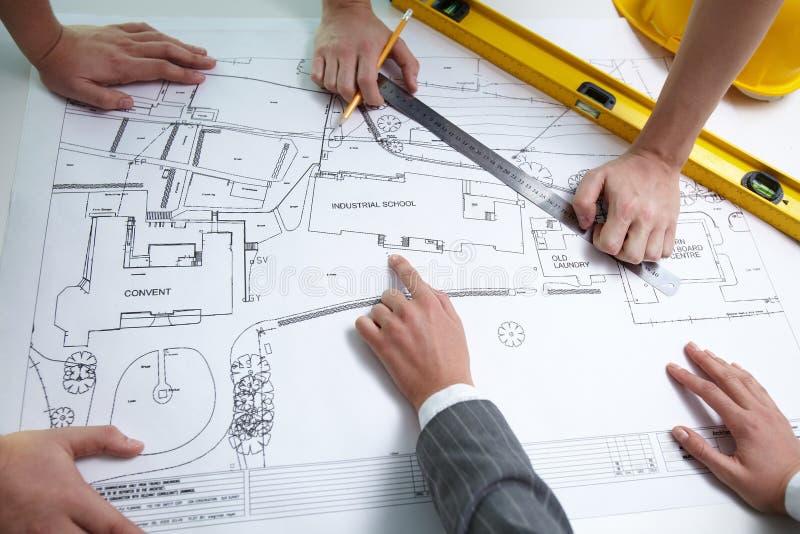Lavoro di squadra di Architect?s fotografie stock