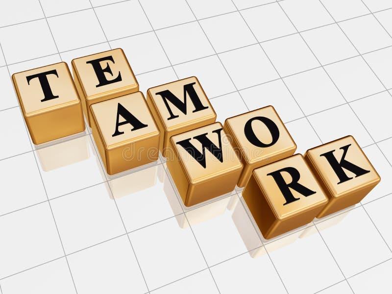 Lavoro di squadra dorato illustrazione vettoriale