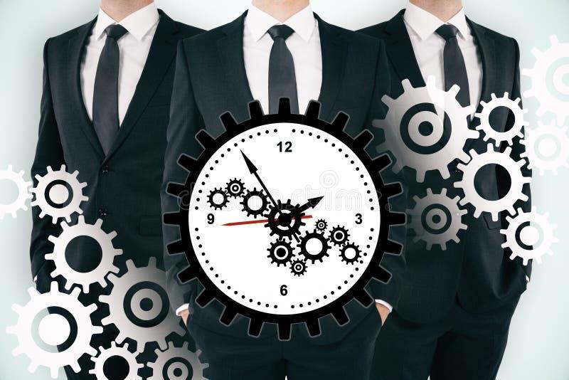 Lavoro di squadra, gestione di tempo e concetto di termine immagini stock