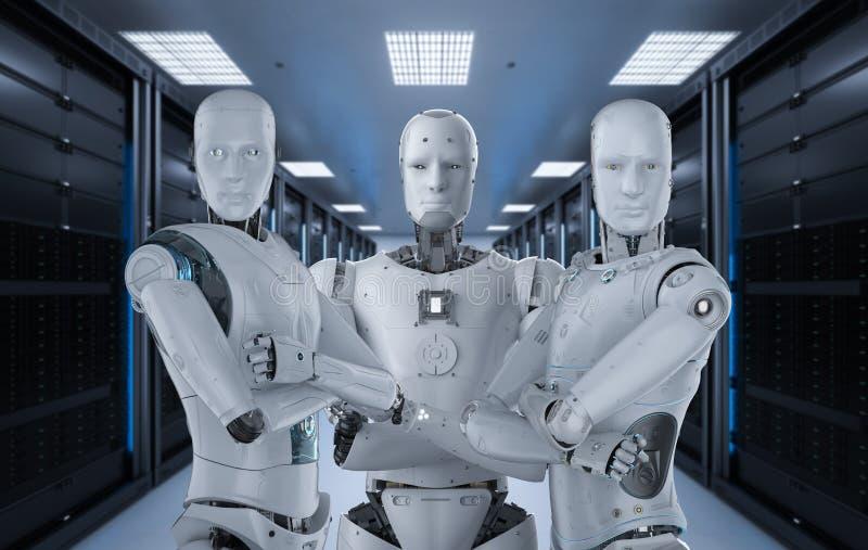 Lavoro di squadra di intelligenza artificiale